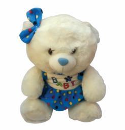 Αρκουδάκι λευκό χνουδωτό Υ30εκ [10505038]