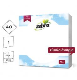Σετ 40 λευκές χαρτοπετσέτες 28x28cm [70501206]