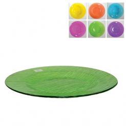 Γυάλινη πασχαλινή πιατέλα χρωματιστή 32,5cm [70603374]