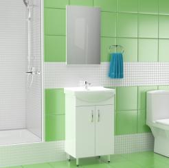 Σετ Μπάνιου, CERSANIA, με έπιπλο με νιπτήρα και καθρέφτη, 50 εκ. SA-CERSANIASET01