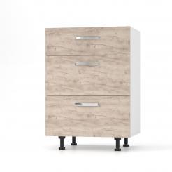 CHARLOTΤE Συρταριέρα 60x46.5x82 με μεταλλικά χερούλια. Χρώμα ΔΡΥΣ SO-CD603SO
