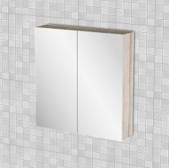 Κρεμαστός Καθρέπτης Μπάνιου Odelia με 2 ντουλάπια 62*14*65 FIL-000741MIRROR.