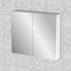 Κρεμαστός Καθρέπτης Μπάνιου Bianca με 2 ντουλάπια 76*14*65 FIL-000779MIRROR