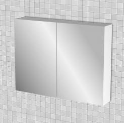 Κρεμαστός Καθρέπτης Μπάνιου Bianca  με 2 ντουλάπια 86*14*65 FIL-000780MIRROR