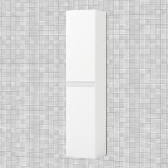 Κρεμαστή Στήλη Μπάνιου Bianca, Λευκό Gloss 35*30*160, FIL-000839