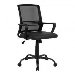 Καρέκλα γραφείου, χρώμα Μαύρη, ZZ-A0520815