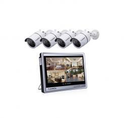 Ενσύρματο καταγραφικό με 4 κάμερες και οθόνη 7' - Full HD Security Camera Kit - 008888